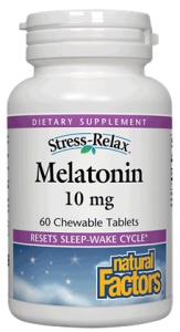 Image of Stress Relax Melatonin 10 mg Chewable Peppermint