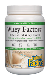 Image of Whey Factors Whey Protein Powder with Match Green Tea