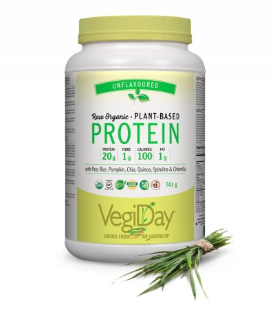 Image of VegiDay Raw Organic Plant Based Protein Unflavored