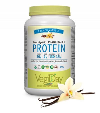 Image of VegiDay Raw Organic Plant Based Protein Powder French Vanilla