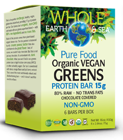 Image of Organic Vegan Greens Protein Bar (non-GMO)