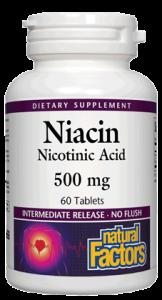 Image of Niacin 500mg (Nicotinic Acid)