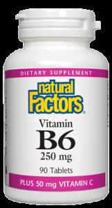 Image of Vitamin B6 250 mg plus Vitamin C 50 mg