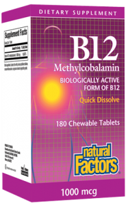 Image of Vitamin B12 1000 mcg (methylcobalamin) Chewable