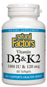 Image of Vitamin D3 & K2 1000 IU/120 mcg
