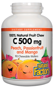 Image of C 500 mg Fruit Chews - Passionfruit, Peach & Mango
