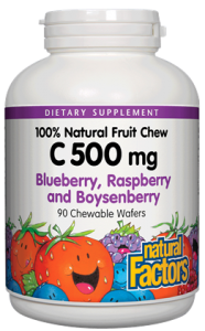 Image of C 500 mg Fruit Chews - Blueberry, Raspberry & Boysenberry