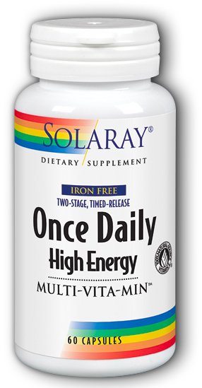 Image of Once Daily High Energy Multivitamin Two-Stage, Timed-Release Iron Free