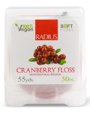 Image of Floss Vegan Xylitol Cranberry 55 yds