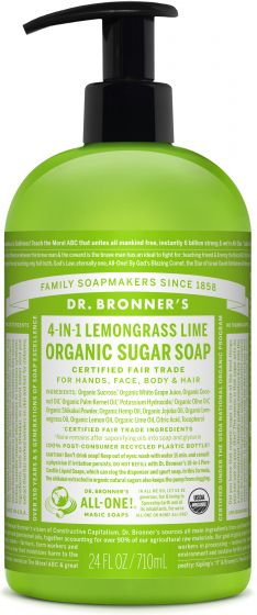Image of Sugar Soap Liquid Organic Lemongrass Lime
