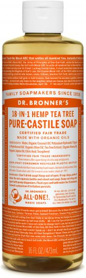 Image of Pure Castile Soap Liquid Organic Tea Tree