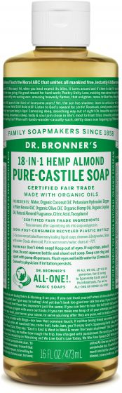 Image of Pure Castile Soap Liquid Organic Almond