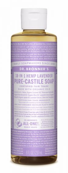 Image of Pure Castile Soap Liquid Organic Lavender