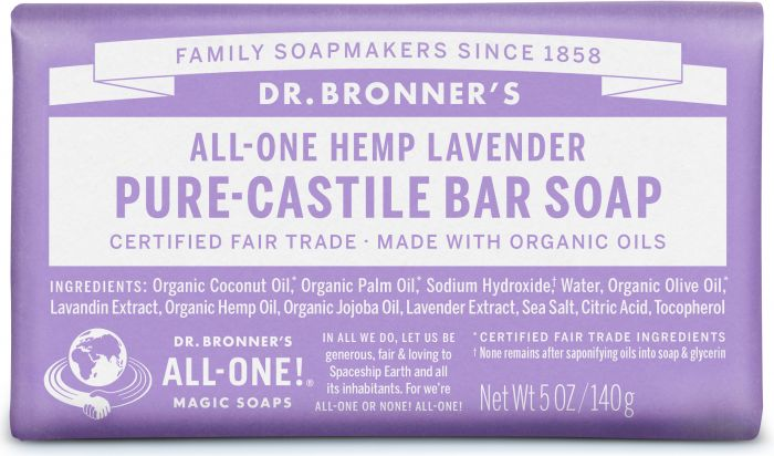 Image of Pure Castile Bar Soap Organic Lavender