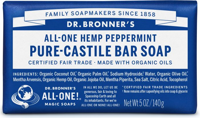 Image of Pure Castile Bar Soap Organic Peppermint