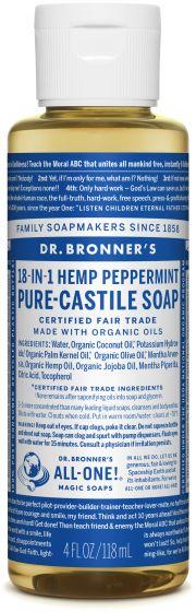 Image of Pure Castile Soap Liquid Organic Peppermint