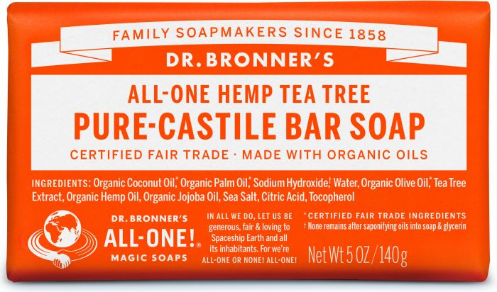 Image of Pure Castile Bar Soap Organic Tea Tree