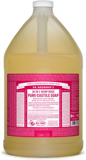 Image of Pure Castile Soap Liquid Organic Rose