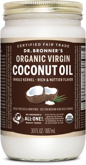 Image of Coconut Oil WHOLE Kernal Organic Virgin (Rich Flavor)