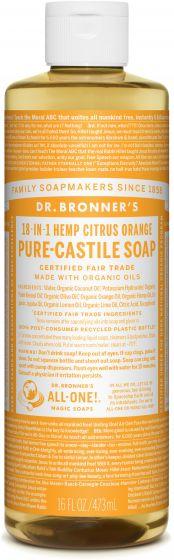 Image of Pure Castile Soap Liquid Organic Citrus Orange