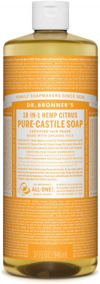 Image of Pure Castile Soap Liquid Organic Citrus Orange