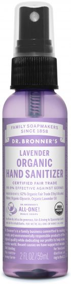 Image of Hand Sanitizer Spray Organic Lavender