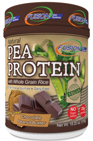 Image of Pea Protein Powder with Whole Grain Rice Chocolate Peanut Butter