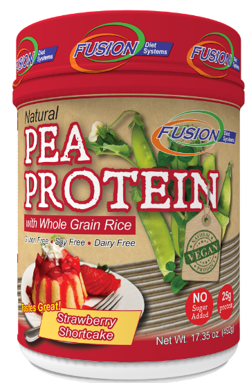 Image of Pea Protein Powder with Whole Grain Rice Strawberry Shortcake