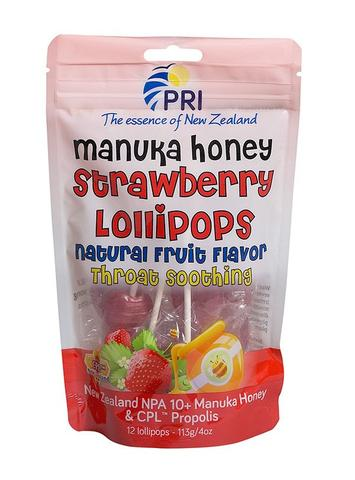Image of Manuka Honey Lollipops Strawberry