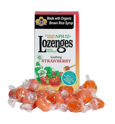 Image of Manuka Honey Lozenges with Propolis NPA 10+ Strawberry