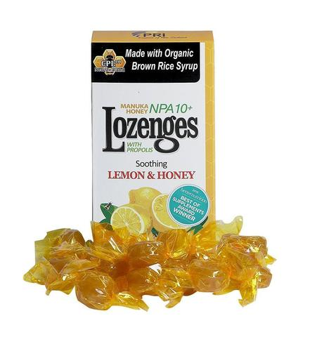 Image of Manuka Honey Lozenges with Propolis NPA 10+ Lemon & Honey