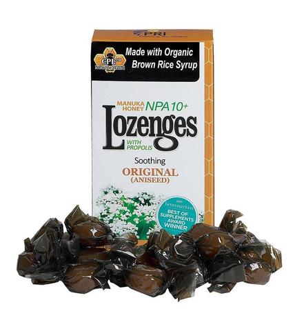 Image of Manuka Honey Lozenges with Propolis NPA 10+ Original (Aniseed)