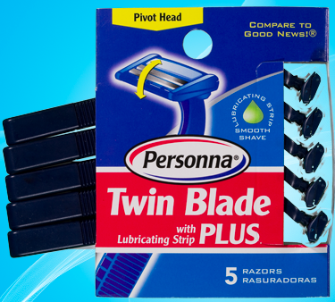 Image of Twin Blade Plus Disposable Razor for Men Pivot Head
