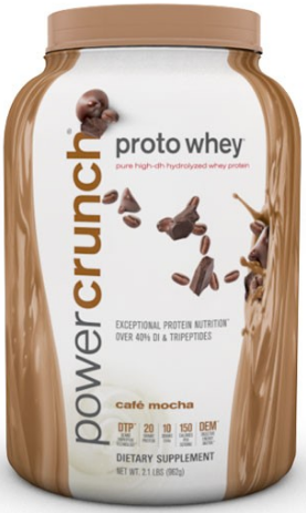 Image of Power Crunch Proto Whey Protein Powder Cafe Mocha