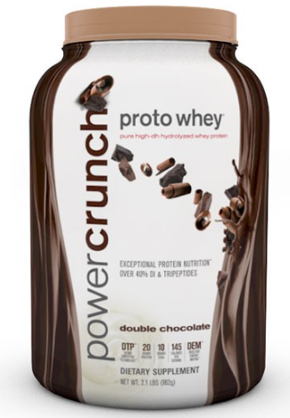 Image of Power Crunch Proto Whey Protein Powder Double Chocolate