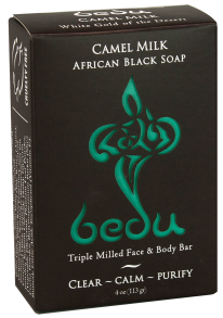 Image of Bedu Camel Milk Bar Soap African Black Soap