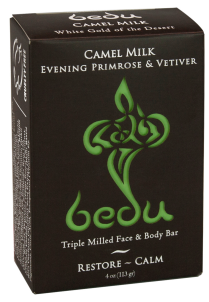 Image of Bedu Camel Milk Bar Soap Evening Primrose & Vetiver