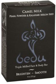 Image of Bedu Camel Milk Bar Soap Pearl Powder & Kalahari Melon Seed