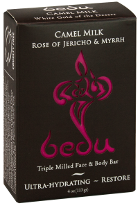 Image of Bedu Camel Milk Bar Soap Rose of Jericho & Myrrh