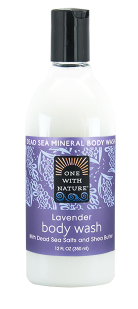 Image of Dead Sea Minerals and Shea Butter Body Wash Lavender