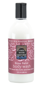 Image of Dead Sea Minerals and Shea Butter Body Wash Rose Petal