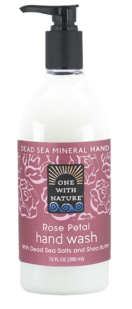 Image of Dead Sea Minerals and Shea Butter Hand Wash Rose Petal