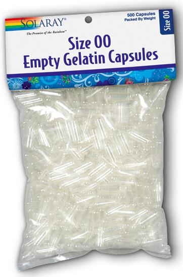 Image of Empty Capsules Gelatin Size 00