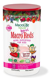 Image of Kids Macro Berri Reds Berry Superfood Powder 15 Servings
