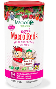Image of Kids Macro Berri Reds Berry Superfood Powder 64 Servings