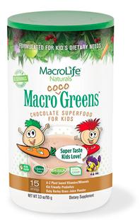 Image of Kids Macro Coco Greens Chocolate Superfood Powder 15 Servings