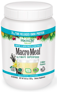 Image of MacroMeal Omni Powder Vanilla 28 Servings