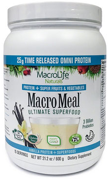 Image of MacroMeal Omni Powder Vanilla 15 Servings