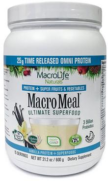 Image of MacroMeal Omni Powder Vanilla 15 Servings