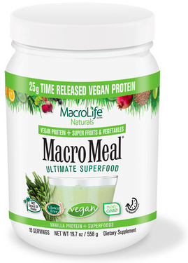 Image of MacroMeal Vegan Powder Vanilla 15 Servings